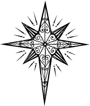 Drawn stare bethlehem Christmas Christian clipart  clipart