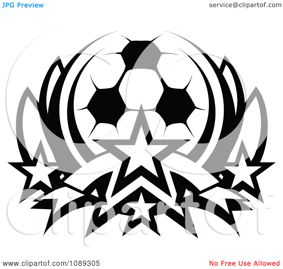 Stars clipart soccer ball Clipart Clipart Free Black With