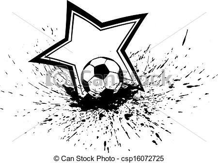 Stars clipart soccer ball Soccer Soccer Ball csp16072725 of
