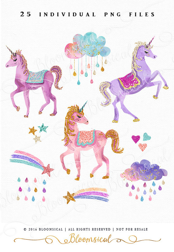 Clouds clipart whimsical  featuring cliparts Painted watercolor