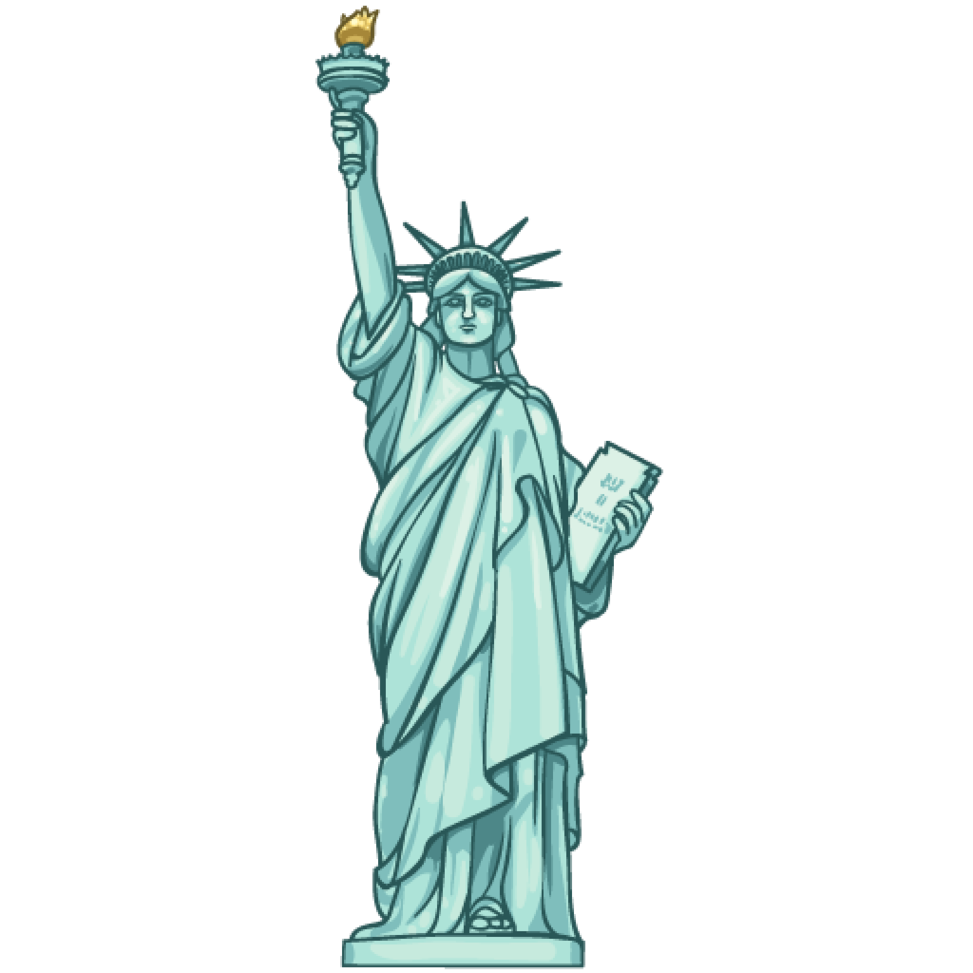 Statue Of Liberty clipart blue Art statue Cliparting liberty com