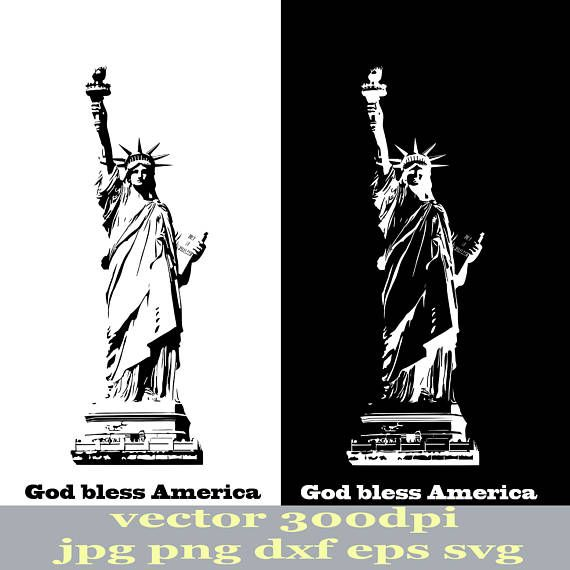 Drawn statue of liberty diy Of patriot svg of clip