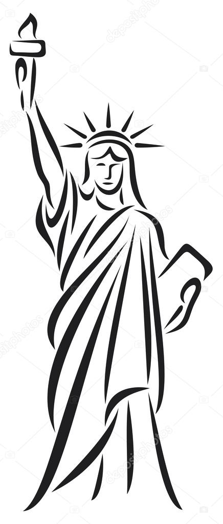 Statue clipart freedom Vector — — freedom #12678618