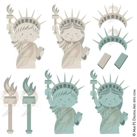 Statue clipart freedom Pinterest 4th Pride USA National