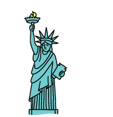 Statue Of Liberty clipart blue Learningmedia clipart Cliparting liberty com