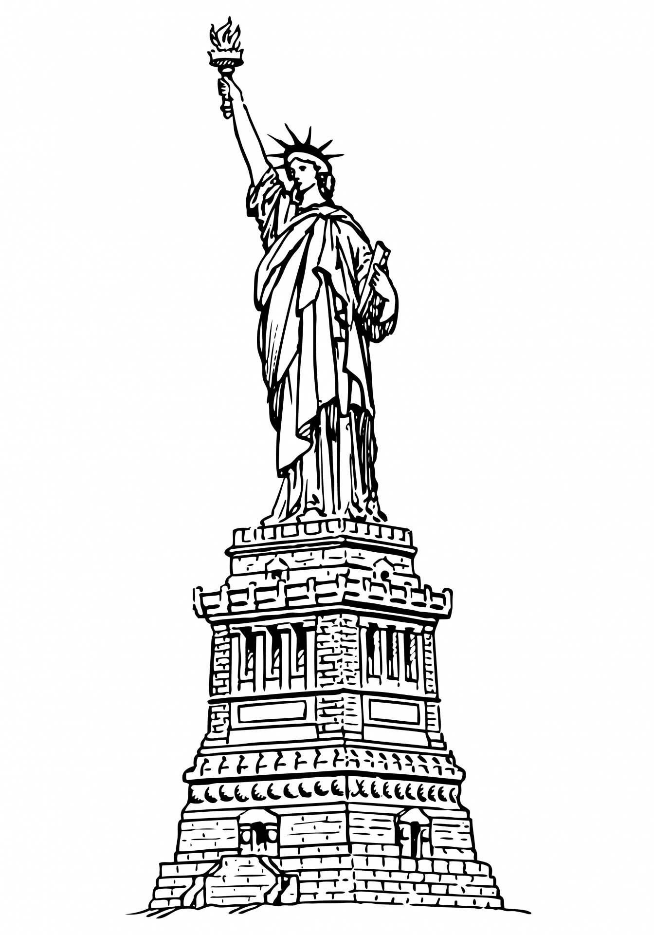 Statue Of Liberty clipart blue Photo Statue Liberty Public Domain