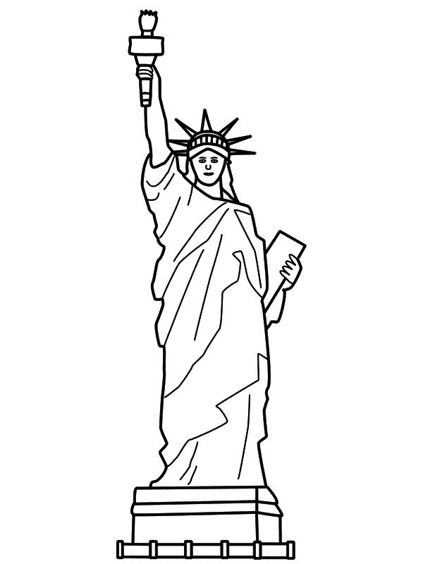 Drawn statue of liberty Best of Statue on 25+