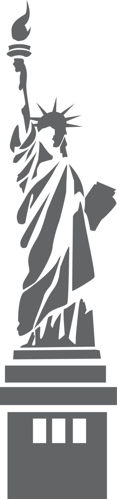 Figurine clipart shadow Best transparent liberty Illustration with