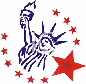 Statue Of Liberty clipart blue Free Statue Royalty Free Liberty