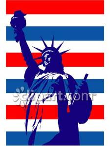 Statue Of Liberty clipart blue Royalty Stripes of Liberty and