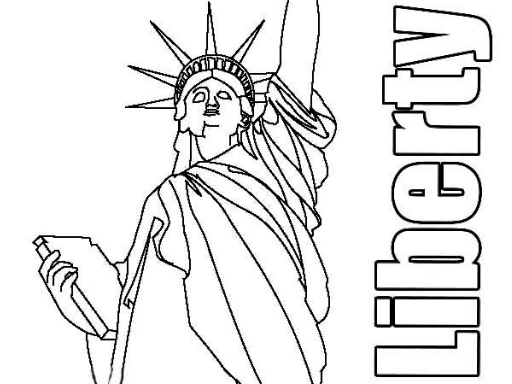 Drawn statue of liberty coloring page 1884 Coloring  Statue birthday