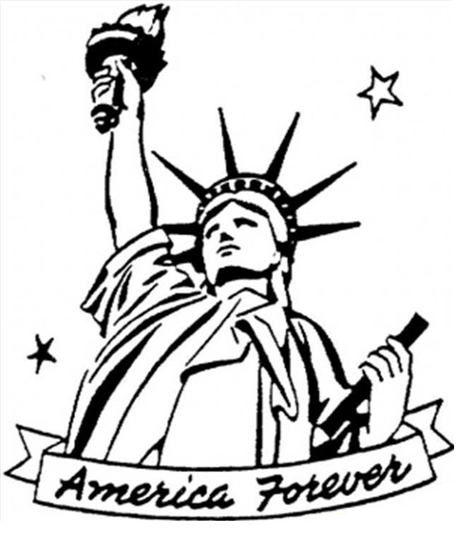 Drawn statue of liberty coloring page Free Liberty Printable Kids Coloring