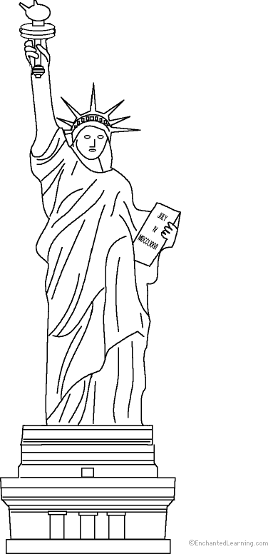 Drawn statue of liberty united states Art france Free Book Of