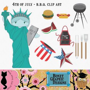 Statue Of Liberty clipart cute Clip Set digital Bonet art