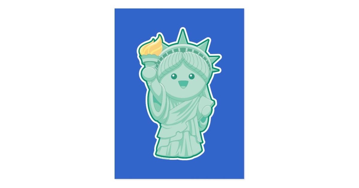 Statue Of Liberty clipart cute Liberty  Lady Zazzle Postcard