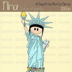 Statue Of Liberty clipart cute Set digital Liberty clip art