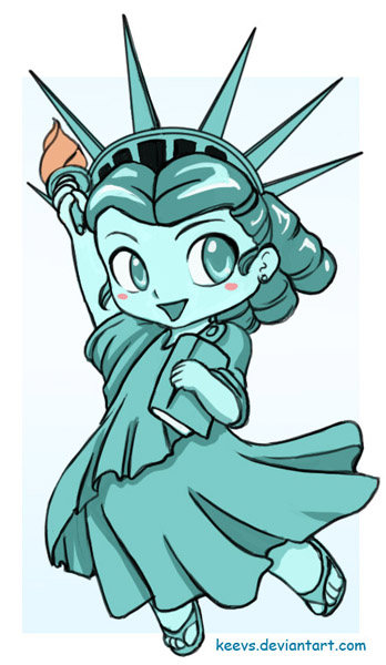 Statue Of Liberty clipart cute Statue of Liberty Statue Chibi