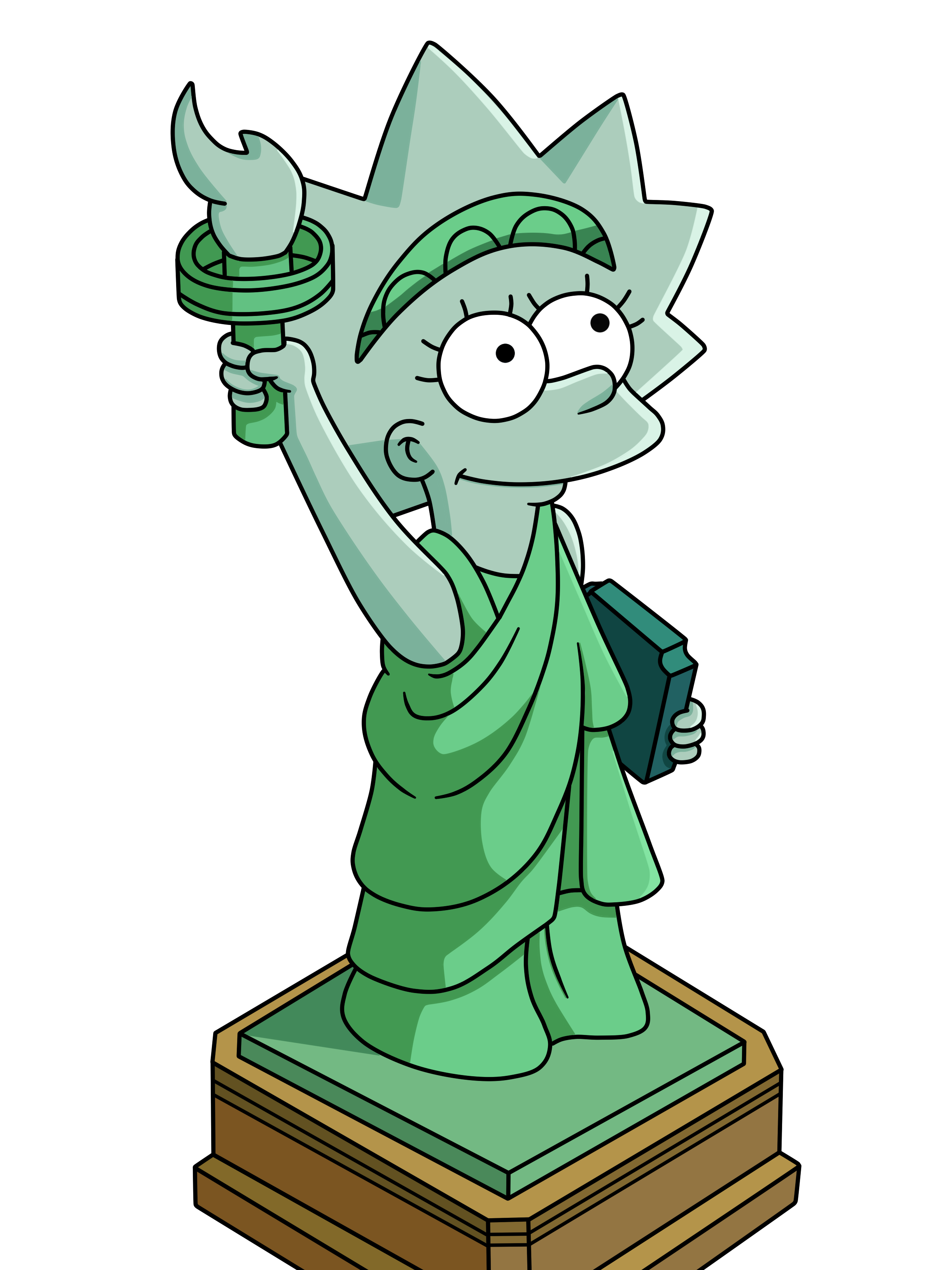 Drawn statue of liberty cartoon Statue Of Of on Lisa