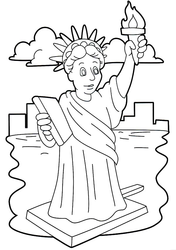 Statue Of Liberty clipart easy #12