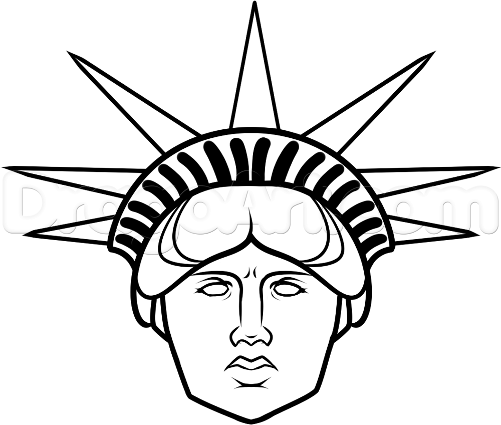 Statue Of Liberty clipart easy How face Monuments  liberty