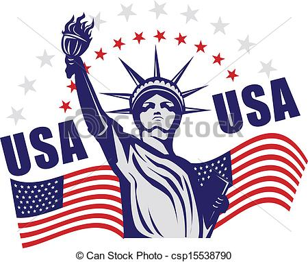 Statue Of Liberty clipart flag Liberty icon of Statue with