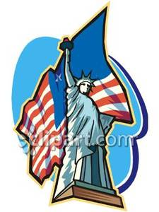 Statue Of Liberty clipart flag Free Flag American The Clipart