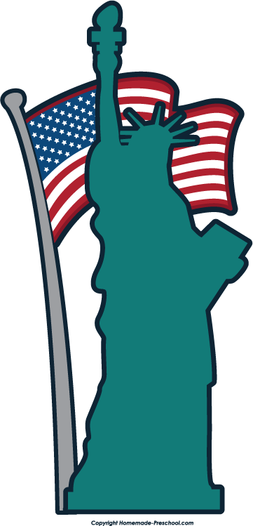 Statue Of Liberty clipart flag Of clipart of Statue liberty