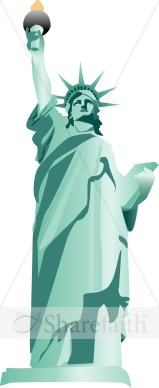 Statue clipart freedom Of Day The Liberty Statue
