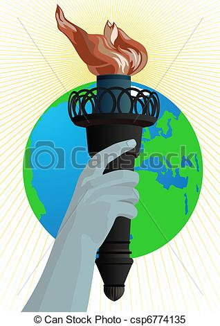 Torch clipart liberty torch Of Man's  Liberty Statue