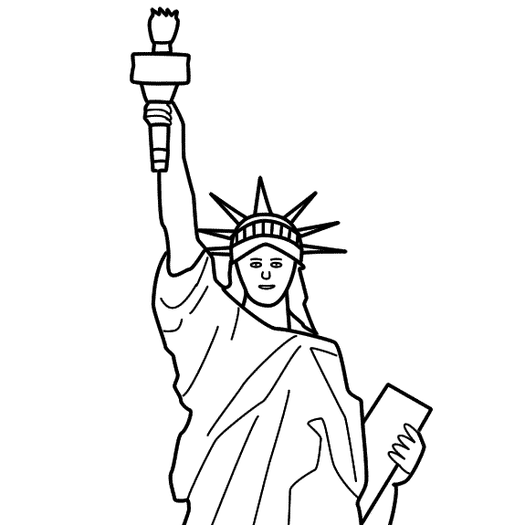 Drawn statue of liberty liberty kid School Of For Presidents