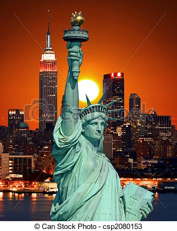 Statue Of Liberty clipart new york city Statue York Photo skylines City