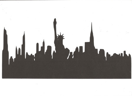 Statue Of Liberty clipart new york city Skyline large York  silhouette