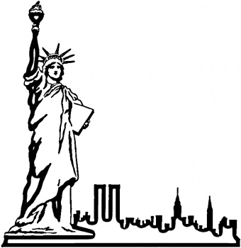 Statue Of Liberty clipart outline Gallery Art Free Statue Drawing
