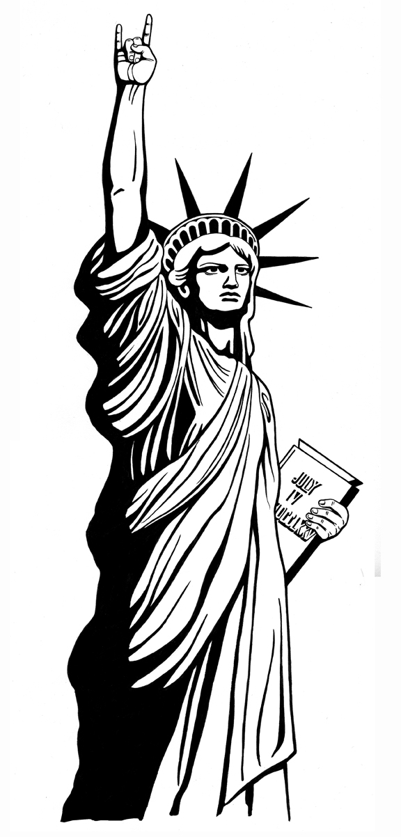 Statue Of Liberty clipart outline Art com Statue drawing clip