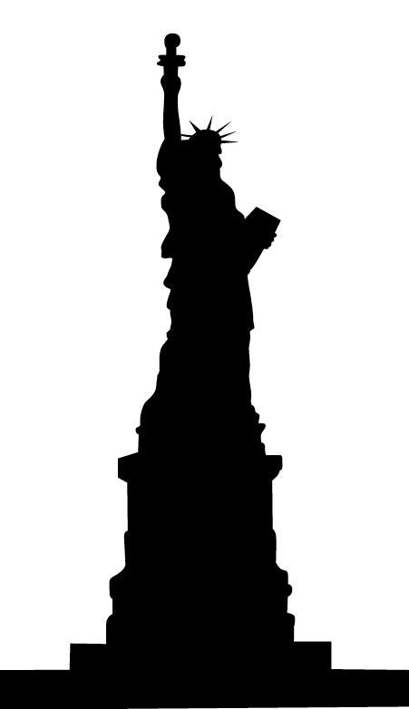 Statue Of Liberty clipart outline VECTOR Free Art Clip Art
