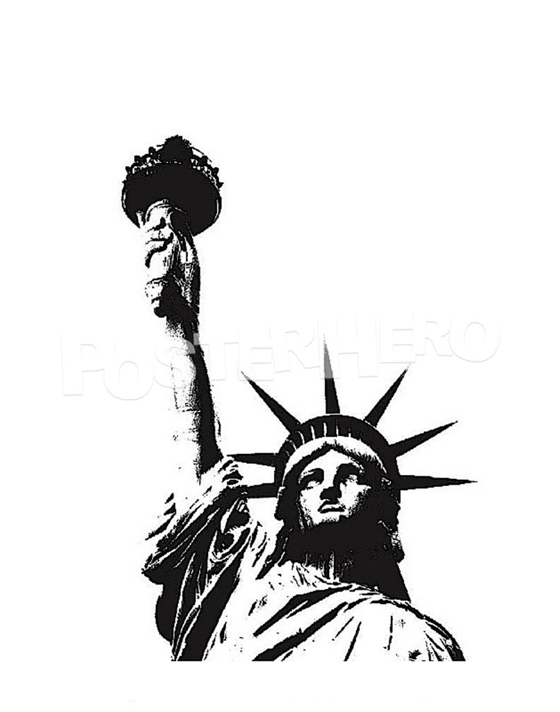 Statue Of Liberty clipart outline Poster for PosterHero (outline) Liberty