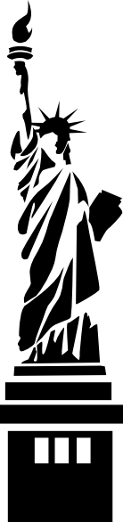 Statue Of Liberty clipart outline Of art  Liberty at