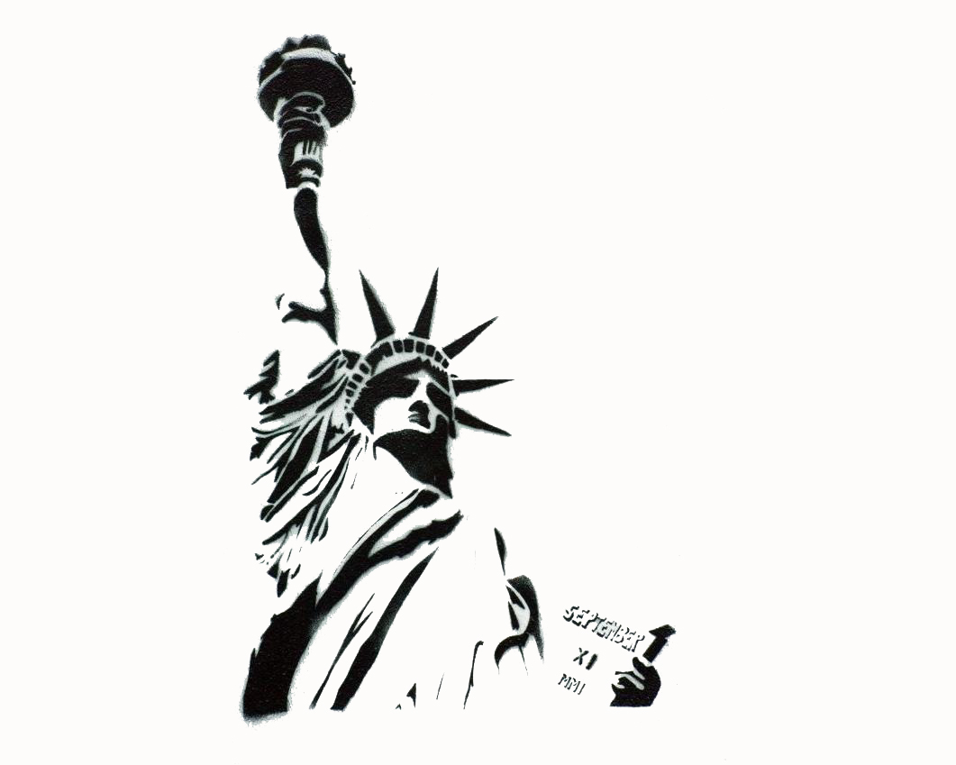 Drawn statue of liberty outline Pages Outline Of Colouring
