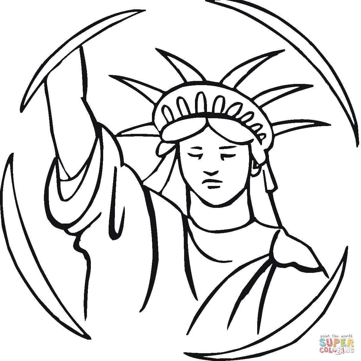 Drawn statue of liberty coloring page Coloring Coloring Statue Of Liberty