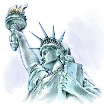 Drawn statue of liberty Clip tattoo Art Clipart Ideas