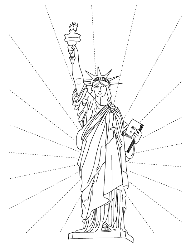 Drawn statue of liberty simple Pictures Liberty Statue Liberty Printable