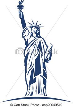 Drawn statue of liberty simple Line of drawings Liberty simple