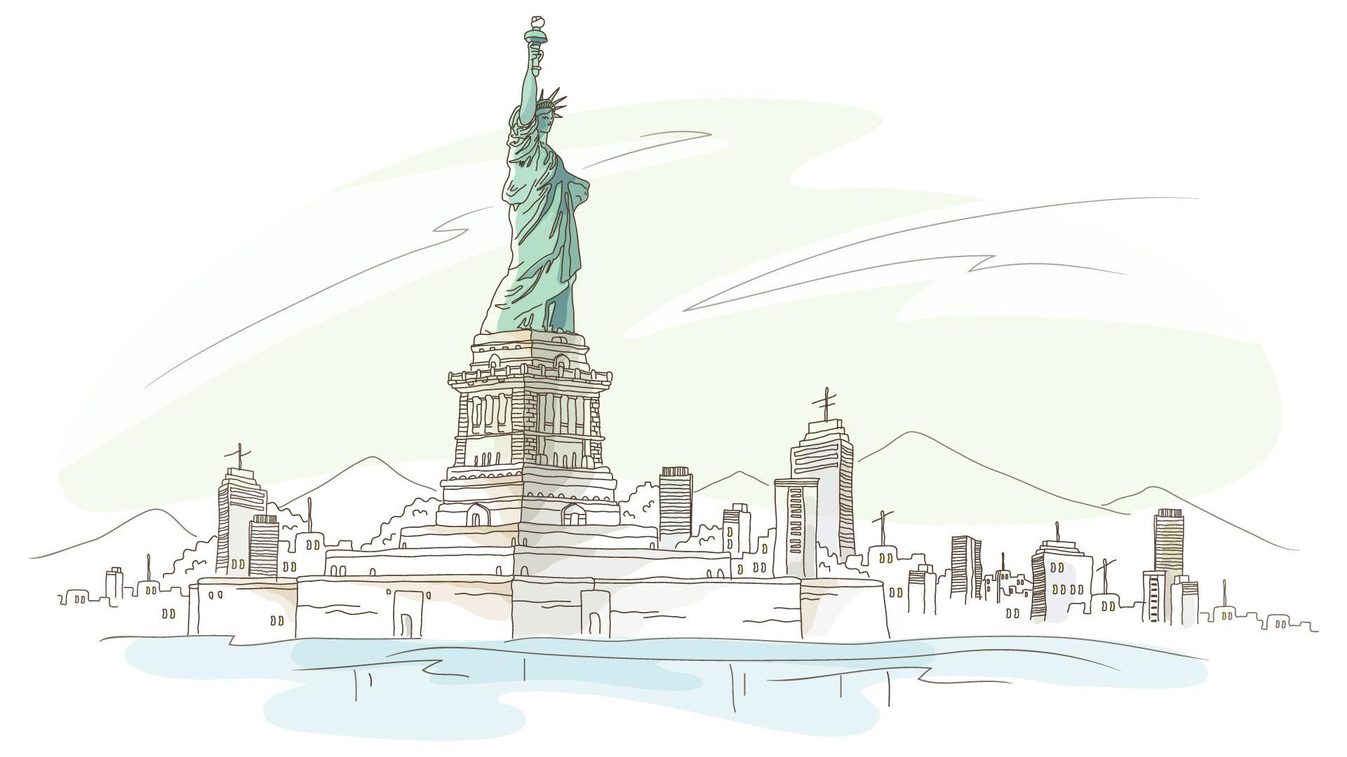 Statue Of Liberty clipart sketch Statue Liberty Clip Wallpaper Art