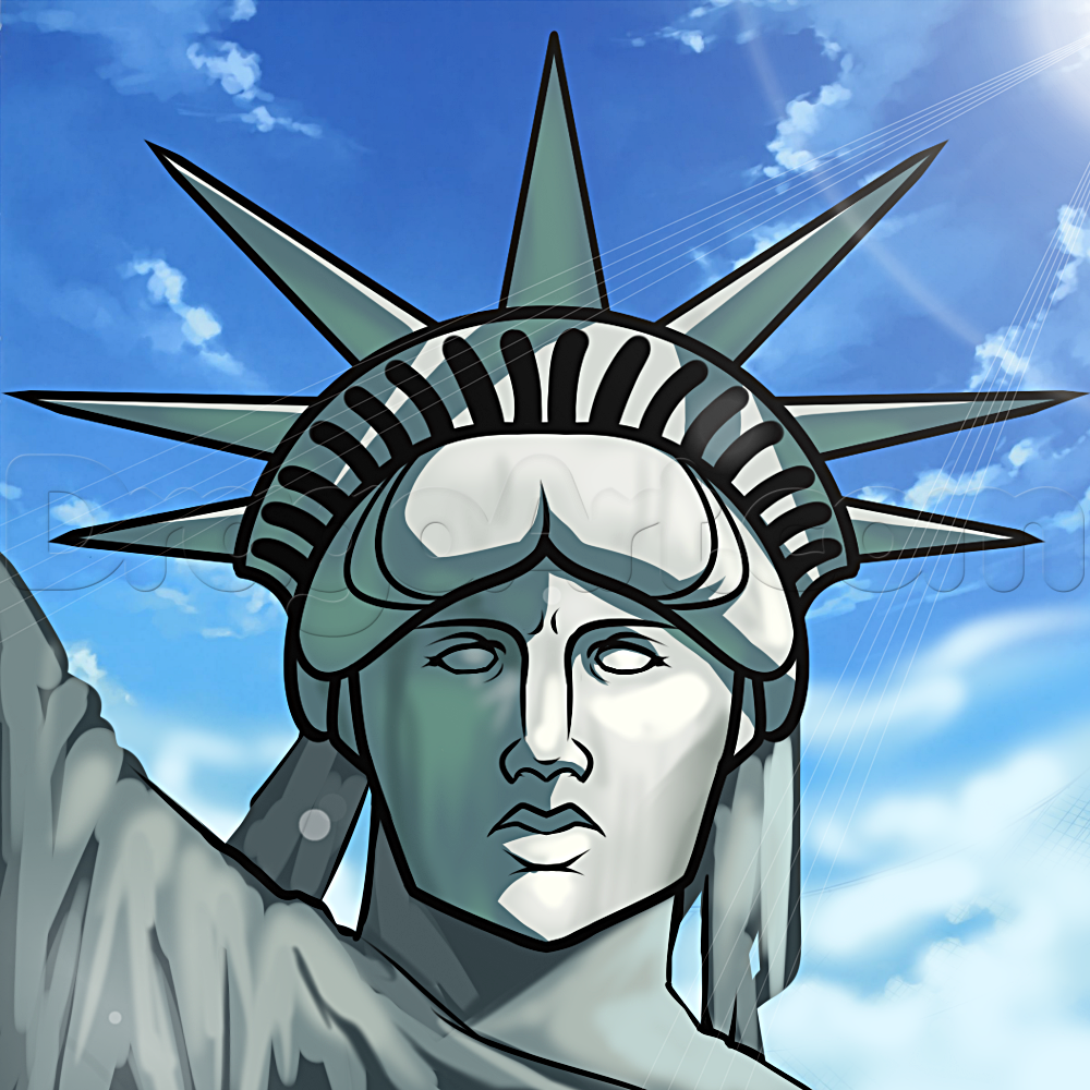 Statue Of Liberty clipart sketch Draw of  liberty Draw
