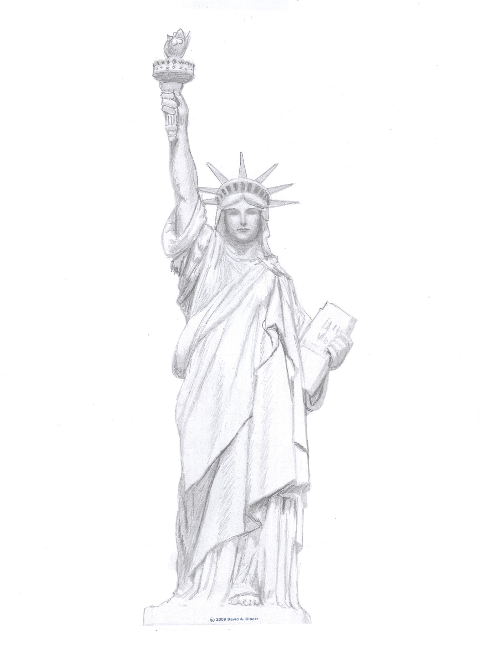 Statue Of Liberty clipart sketch Statue Liberty Clip of Art
