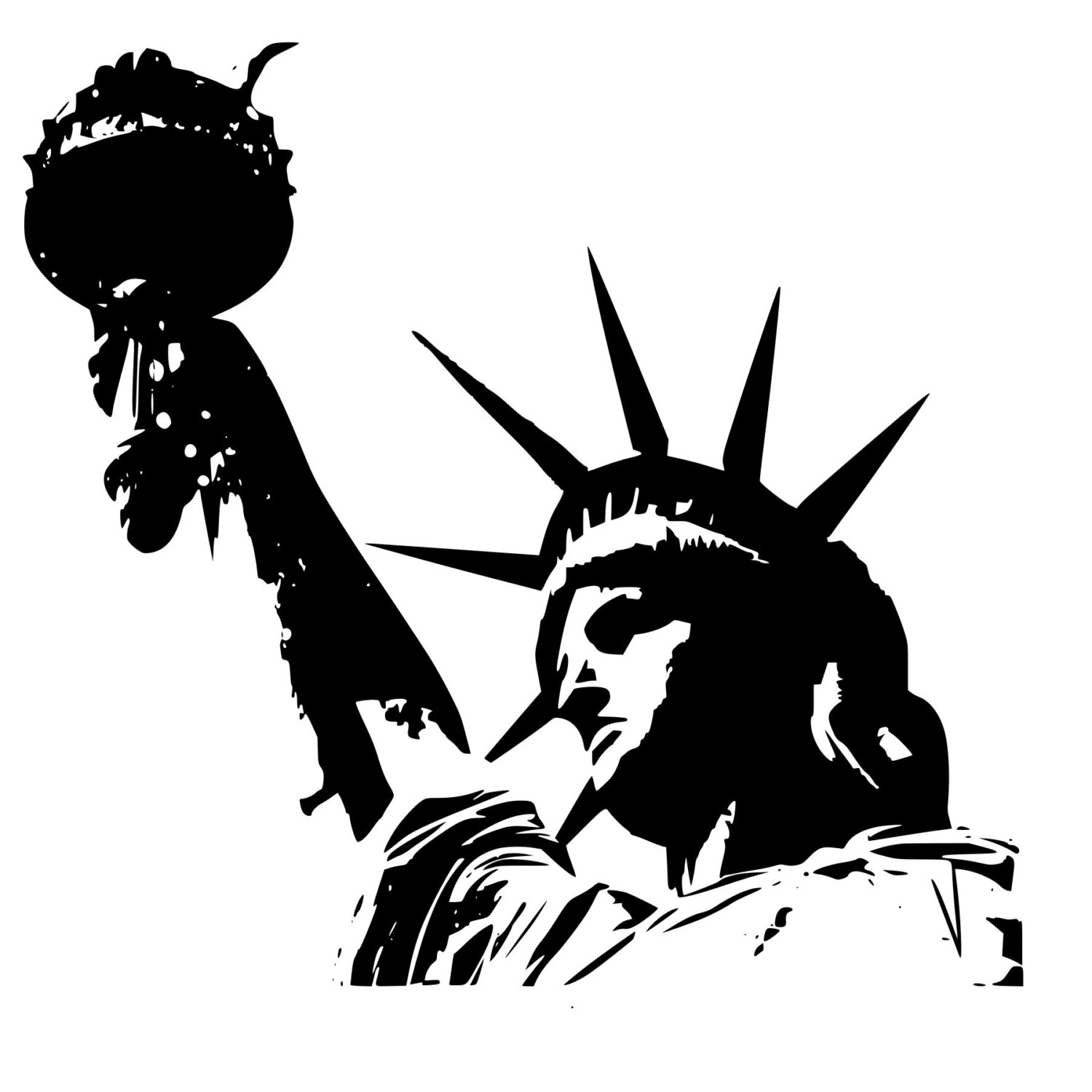 Statue Of Liberty clipart cute Window Wall Bumper of Etsy