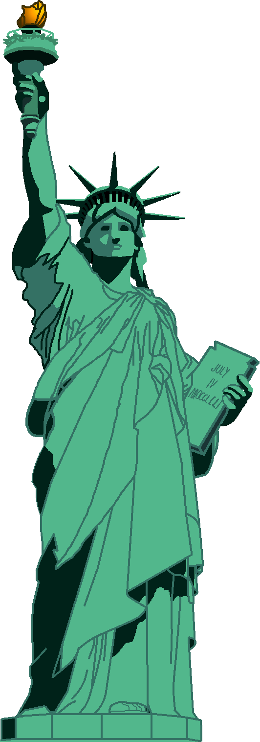 Drawn statue of liberty real Clip Statue on Drawing Liberty