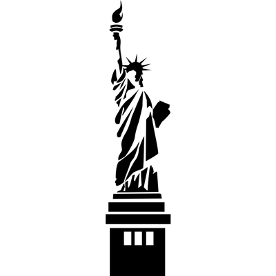 Statue Of Liberty clipart transparent Clipart of liberty stick Statue