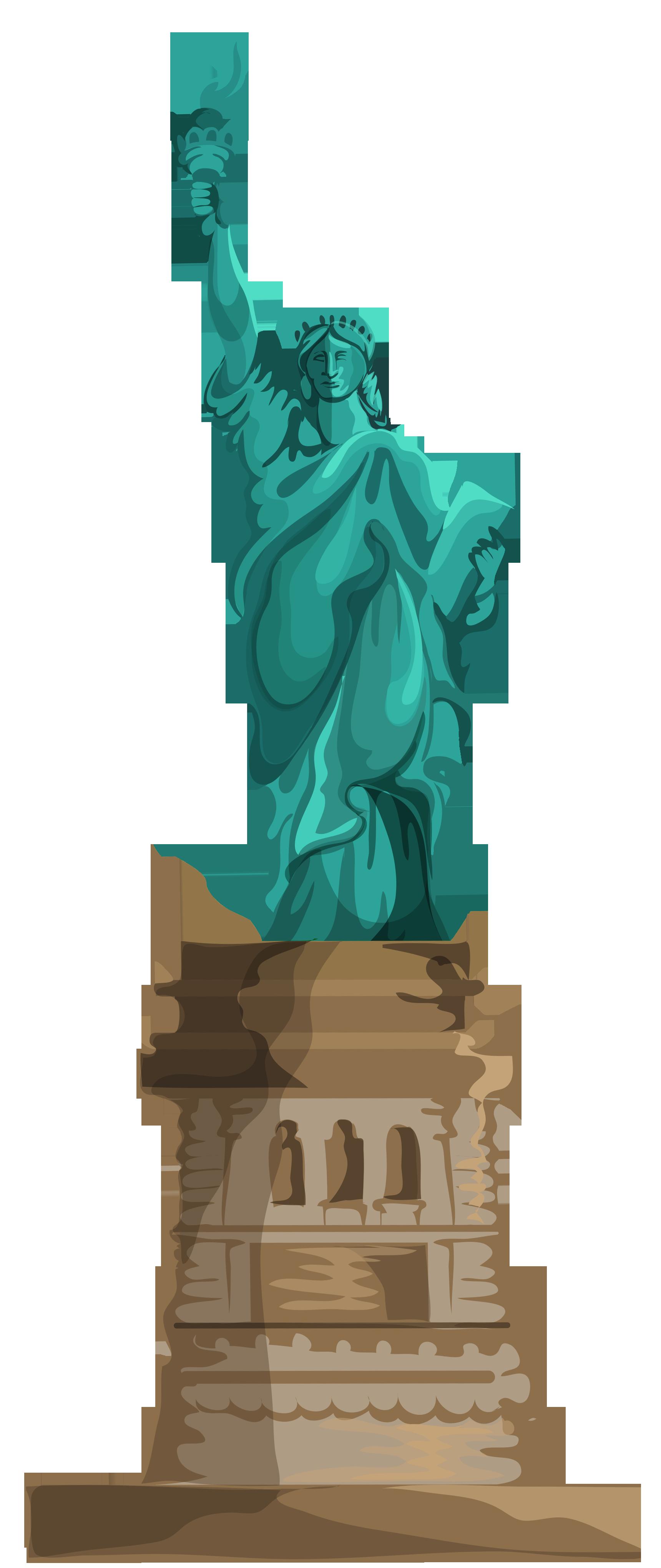 Statue Of Liberty clipart transparent Statue liberty of Transparent of