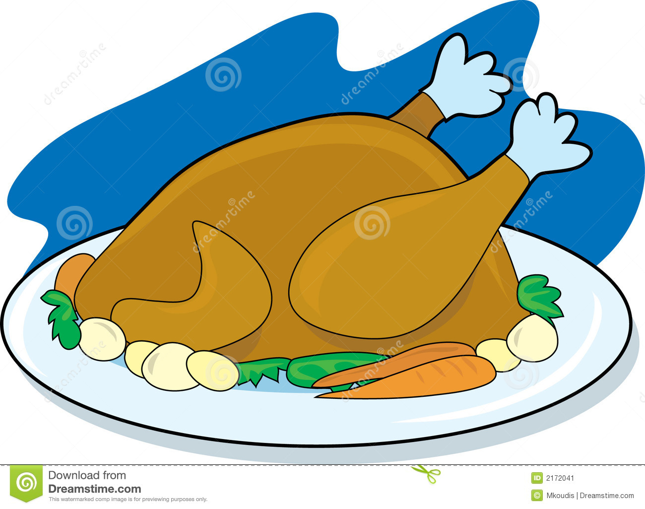 Covered clipart food platter Bay Clipart Clipart Meat Chicken